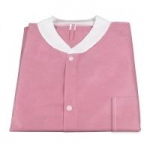 Dynarex Disposable Lab Jacket with Three Pockets, Pink, 2X-Large, 30/cs