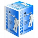 Dynarex Disposable Coverall, White, Universal Size, 25/cs