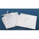 "Disposable Tissue/Poly Backed Bibs, 19"" x 35"""