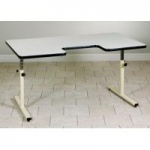 Clinton Activity Table with Cut-Out, Gray