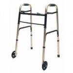 Lumex ColorSelect Adult Walker With Wheels, Gold, 2/cs