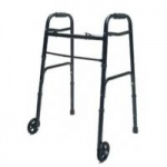 Lumex ColorSelect Adult Walker With Wheels, Black, Each