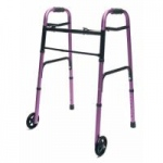 Lumex ColorSelect Adult Walker With Wheels, Plum, 2/cs