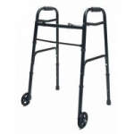 Lumex ColorSelect Adult Walker With Wheels, Black, 2/cs