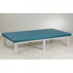 Clinton Alpha Series Mat Platform with Removable Top, 6' x 8', Royal Blue