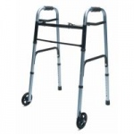 Lumex ColorSelect Adult Walker With Wheels, Blue, 2/cs