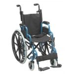 "Inspired by Drive Wallaby Pediatric Folding Wheelchair, 14"", Jet Fighter Blue"