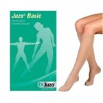Juzo Basic, 30-40 mmHg, Knee-High, Full Foot, Regular, Beige, Size 2