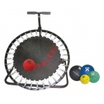 Adjustable Ball Rebounder - Set with Circular Rebounder, 5-balls (1 each: 2,4,7,11,15 lb)