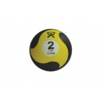 "CanDo® Firm Medicine Ball - 8"" Diameter - Yellow - 2 lb"
