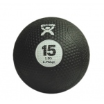 "CanDo® Firm Medicine Ball - 10"" Diameter - Black - 15 lb"