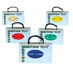 CanDo® Handy Grip™ weight ball - 5-piece set (1 each: 1,2,3,4,5 lb)