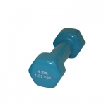 CanDo® vinyl coated dumbbell - 4 lb - Light Blue, each