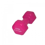 CanDo® vinyl coated dumbbell - 6 lb - Red, each