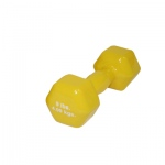 CanDo® vinyl coated dumbbell - 9 lb - Yellow, each