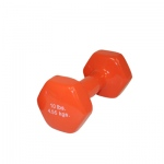 CanDo® vinyl coated dumbbell - 10 lb - Orange, each