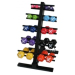 CanDo® vinyl coated dumbbell - 20-piece set with Floor Rack - 2 each 1, 2, 3, 4, 5, 6, 7, 8, 9, 10
