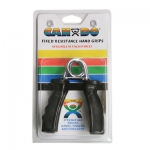 CanDo® Ergonomic Hand Grip, Pair - Black, x-heavy - 48 lb