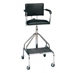 "Adjustable high-boy whirlpool chair with belt, 3"" casters"