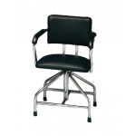 Adjustable low-boy whirlpool chair with belt, rubber tips