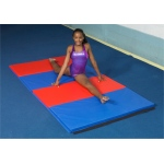 "CanDo® Accordion Mat - 2"" EnviroSafe® Foam with Cover - 5' x 4' - Specify Alternating Colors"