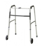 "Folding 2-button walker, 5"" wheel-glides, adult, 1 each"