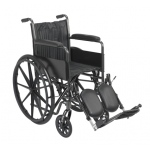 "16"" wheelchair with fixed arm, swing away elevating leg rest"