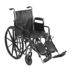 "16"" wheelchair with removable desk armrest, swing away elevating leg rest"