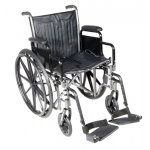 "18"" wheelchair with fixed arm, swing away footrest"