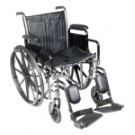 "18"" wheelchair with detachable desk arm, swing away elevating leg rest"