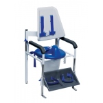 Columbia® Positioning Commode - High Back (H-Harness) - Padded - Small