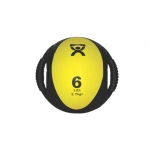 "CanDo® Dual-Handle Medicine Ball - 9"" Diameter - Yellow - 6 lb"