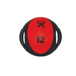 "CanDo® Dual-Handle Medicine Ball - 9"" Diameter - Red - 12 lb"