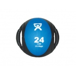 "CanDo® Dual-Handle Medicine Ball - 9"" Diameter - Blue - 24 lb"