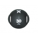 "CanDo® Dual-Handle Medicine Ball - 9"" Diameter - Black - 30 lb"