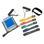 CanDo® Adjustable Exercise Band Kit - 5 band (yellow, red, green, blue, black)
