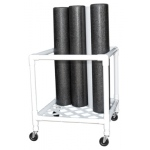 "CanDo® Foam Roller - Accessory - Upright Storage Rack - 24"" W x 34"" D x 30"" H"