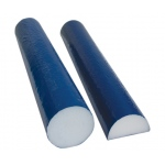 "CanDo® Foam Roller - PE foam, Blue TufCoat® Finish - 4"" x 36"" - Round"