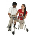 Glider walker, accessory, platform attachment, for standard walker