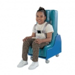 Tumble Forms® 2-Piece Mobile Floor Sitter - Seat and Wood Base - large - blue