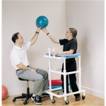 PVC platform walker, pediatric, 30 - 42 inches