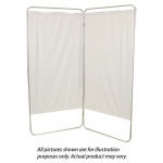 "Standard 2-Panel Privacy Screen - Green 6 mil vinyl, 35"" W x 68"" H extended, 19"" W x 68"" H x1.5"" D folded"