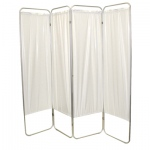 "Standard 4-Panel Privacy Screen - White 6 mil vinyl, 62"" W x 68"" H extended, 19"" W x 68"" H x3.25"" D folded"