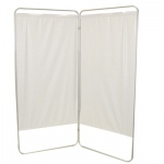 "King size 2-Panel Privacy Screen - White 6 mil vinyl, 69"" W x 68"" H extended, 31"" W x 68"" H x1.5"" D folded"