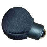 Roller Ice ball-style ice massager fitted neoprene bulb cover