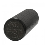 "CanDo® Foam Roller - Black Composite - Extra Firm - 6"" x 12"" - Round - Case of 36"