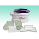 WaxWel® Paraffin Bath - Standard Unit Includes: 100 Liners, 1 Mitt, 1 Bootie and 6 lb Wintergreen Paraffin