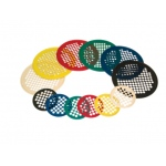 "CanDo® Hand Exercise Web - Latex Free - 14"" Diameter - 6-piece set (tan, yellow, red, green, blue, black)"