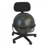 "CanDo® Ball Chair - Metal - Mobile - with Back - no Arms - with 18"" Ball"