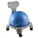 "CanDo® Ball Chair - Plastic - Mobile - with Back - Child Size - with 15"" Ball"
